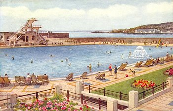Artist picture postcards w carruthers - Hotels weston super mare with swimming pool ...